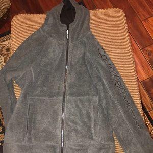 Calvin Klein zip up jacket, very warm and comfy.